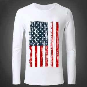 Men's American Flag Printed Sweatshirt