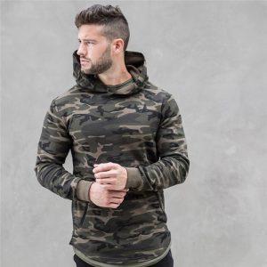 Men's Camouflage Printed Hoodie