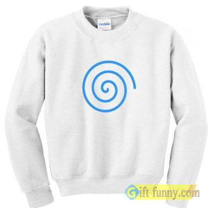 Sweatshirt blue spiral