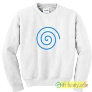 Sweatshirt blue spiral