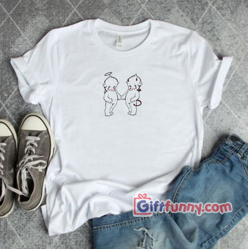 Funny Baby Angel & Baby Devil Shirt