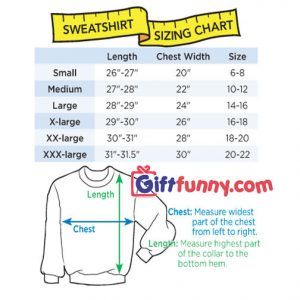 SweatShirt Size Chart giftfunny 300x300 - NASA Retro Pastel Kennedy Space Center Sweatshirt - Funny's NASA Sweatshirt