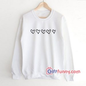 Valentine's Day Hearts Sweatshirt - Valentine's Day Graphic Sweatshirt