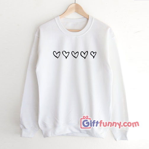 Valentine's Day Hearts Sweatshirt – Valentine's Day Graphic Sweatshirt