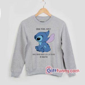 lilo stitch lilo ohanasweatshirt – the walt disney stitch sweatshirt – Funny's ohana sweatshirt