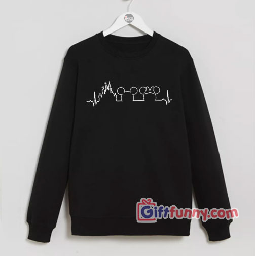 Disney Sweatshirt - Disney heartbeat Mickey Mouse Sweatshirt