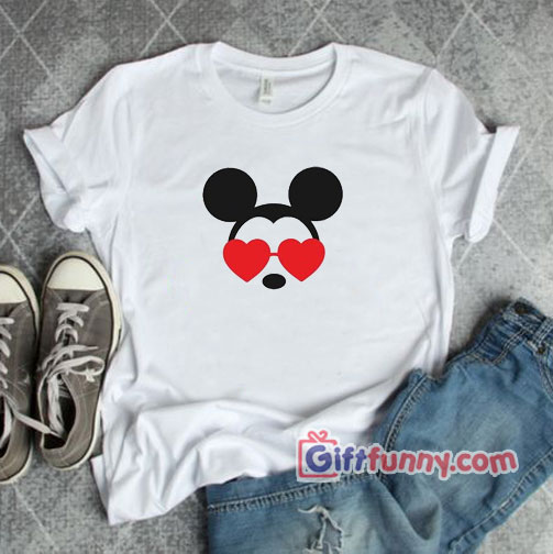 Mickey Heart Shades Valentines Disney Shirt - Funny Disney Shirt