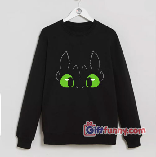 Funny Nigh Fury Dragon Face Sweatshirt – funny Sweatshirt