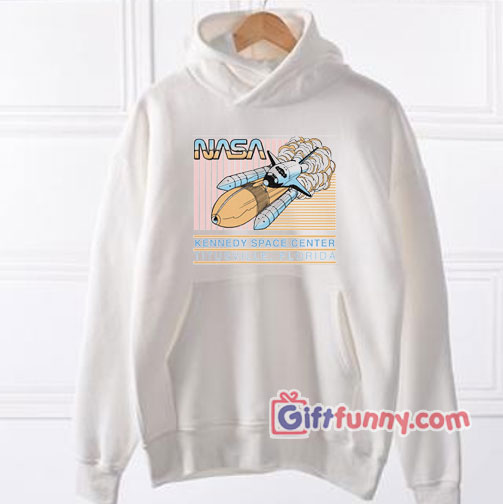 NASA Retro Pastel Kennedy Space Center  Hoodie – Funny's NASA Hoodie