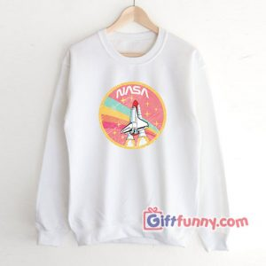 Nasa rocket pastel color Sweatshirt - Funny's NASA Sweatshirt