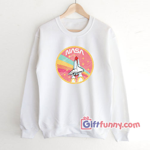 Nasa rocket pastel color  Sweatshirt – Funny's NASA Sweatshirt