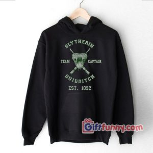 Slytherin Quidditch Hoodie-  Funny Slytherin Hoodie