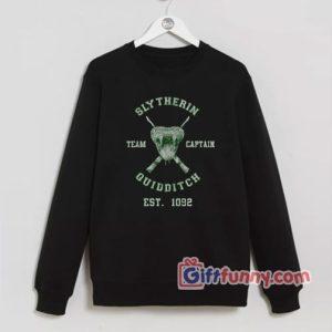 Slytherin Quidditch Sweatshirt - Funny Slytherin Sweatshirt - Funny Gift