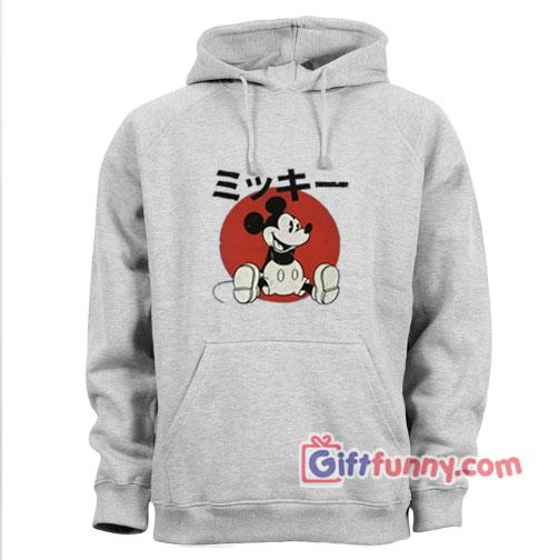 Vintage Disney Hoodie - Vintage Disney Japan Mickey Mouse - Funny Hoodie