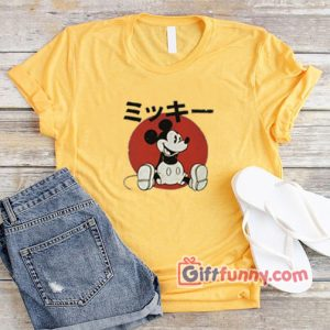 Vintage Disney Shirt- Vintage Disney Japan Mickey Mouse Shirt - Funny's Shirt