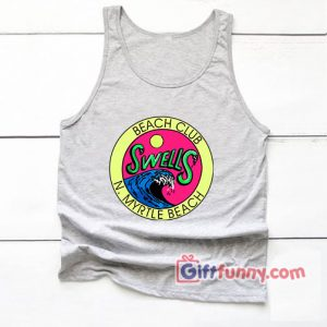 Beach Club Swells Tank Top – N Myrtle Beach Tank top – Funny's Tank top