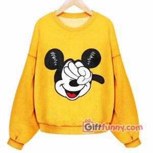 Funny's Disney Sweatshirt - Funny's Mickey Mouse Peace - Funny's Sweatshirt