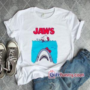 Hello Kitty Jaws Tee Funnys Parody Shirt Hello Kitty 300x300 - Giftfunny