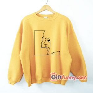 Smoking Girl Art Sweatshirt - Funny's Sweatshirt On Sale - Funny's Sweatshirt