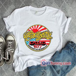Vintage Shirt Aerosmith 1977-Shirt – Aerosmith 1977 Boston Budokan Shirt – Funny's Shirt