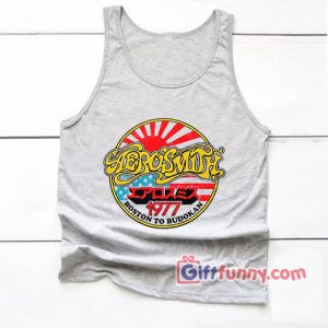 Vintage Tank Top – Aerosmith 1977 Tank Top- Aerosmith 1977 Boston Budokan Tank Top – Funny's Tank Top