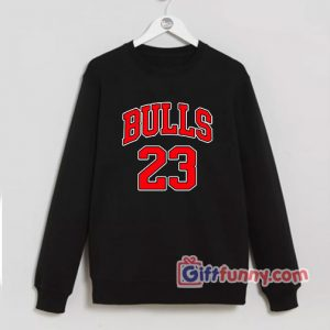 BULLS-23-Sweatshirt---Funny's-Sweatshirt