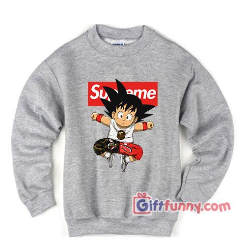 Supreme Dragon ball - Supreme Sweatshirt – Dragon Ball Z Supreme Sweatshirt – Parody Sweatshirt – Funny's Sweatshirt