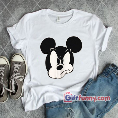 Disney-Mad-Mickey-Mouse-Shirt---World-Disneyland-T-Shirt---Funny's-Disney-Shirt