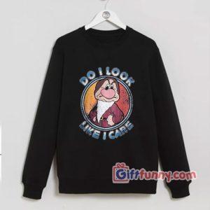 Disney the grumpy Sweatshirt – Do I Look Like I Care Grumpy Sweatshirt – Funny Disney Sweatshirt