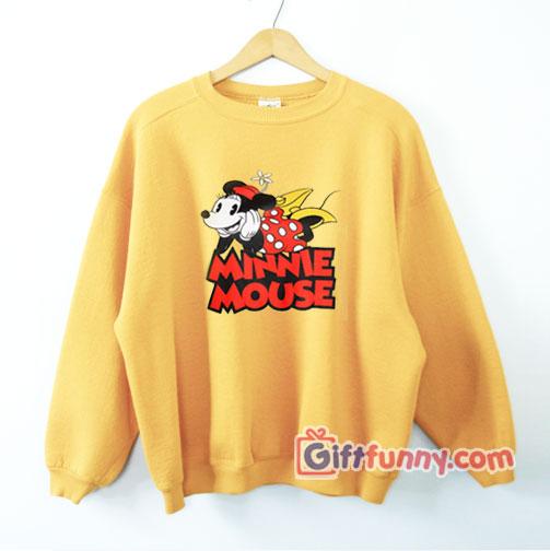 Vintage Disney Sweatshirt – Minnie Mouse Sweatshirt – Funny Disney Sweatshirt