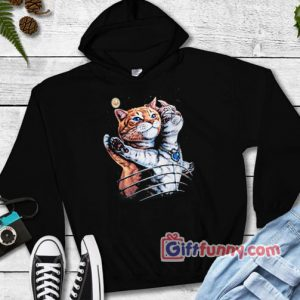 Funny Cat Hoodie – Cat Lover Hoodie – Titanic Cat Hoodie – Funny Hoodie – Funny Gift