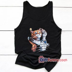 Funny Cat Tank Top – Cat Lover Tank Top – Titanic Cat Tank Top – Funny Tank Top – Funny Gift
