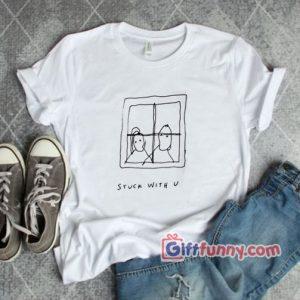 Justin Bier Ariana Grande Stuck with u T Shirt Funny Shirt 300x300 - Giftfunny