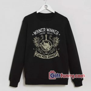Winner Winner Chicken Dinner Sweatshirt PUBG Sweatshirt Funny Sweatshirt 300x300 - Giftfunny