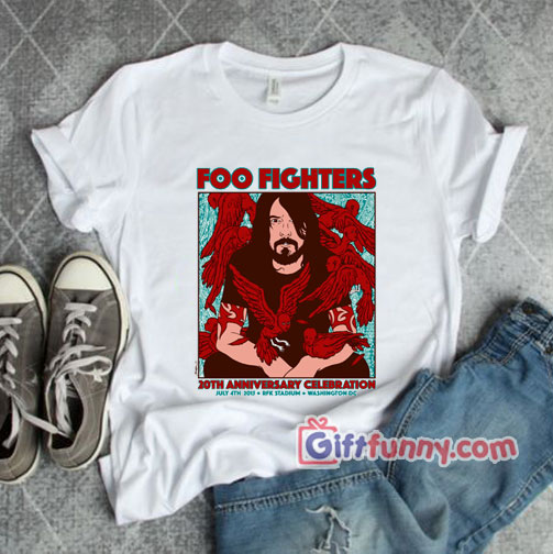 Foo fighters 20th anniversary celebration T-Shirt – Funny Coolest Shirt – Funny Gift