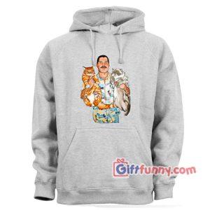 Freddie Mercury white cat Hoodie – Freddie Mercury Hoodie – Funny Coolest Hoodie – Funny Gift