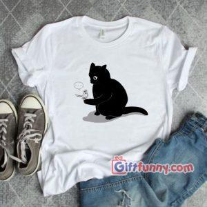 Black Cat Catching a Bird Shirt Funny Shirt Funny Coolest Shirt – Funny Gift 300x300 - Gift Funny Coolest Shirt