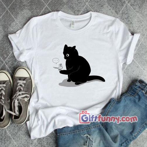 Black Cat Catching a Bird Shirt – Funny Shirt – Funny Coolest Shirt – Funny Gift