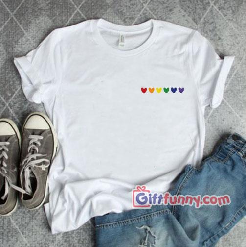 Rainbow Heart Shirt – Love LGBT Shirt –  gay shirt Lesbian shirt – Funny Coolest Shirt – Funny Gift