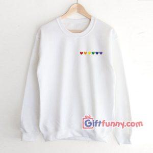 Rainbow Heart Sweatshirt - Love LGBT Sweatshirt - gay Sweatshirt Lesbian Sweatshirt - Funny Coolest Sweatshirt – Funny Gift