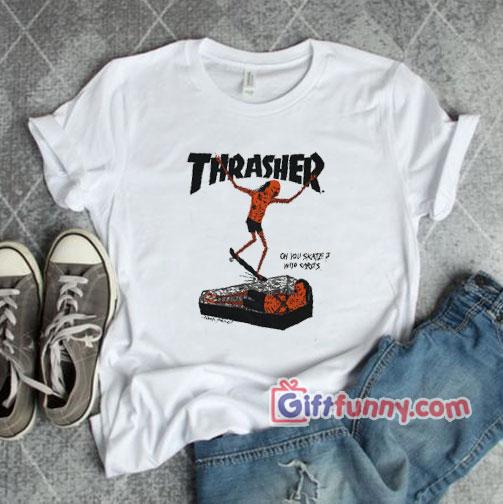 Thrasher Neckface Logo Coffin T-Shirt