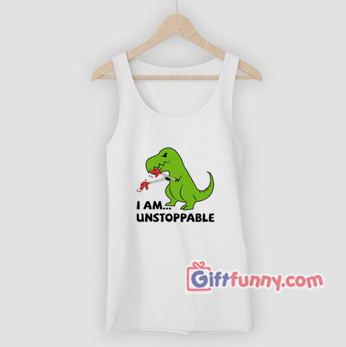 Unstoppable T-Rex Dinosaur Tank Top